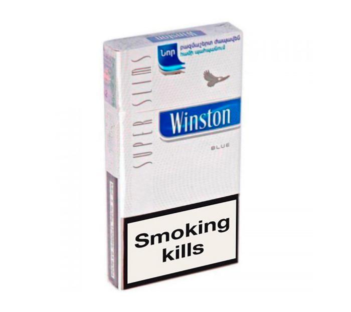 Buy Winston Super Slims Blue cigarettes